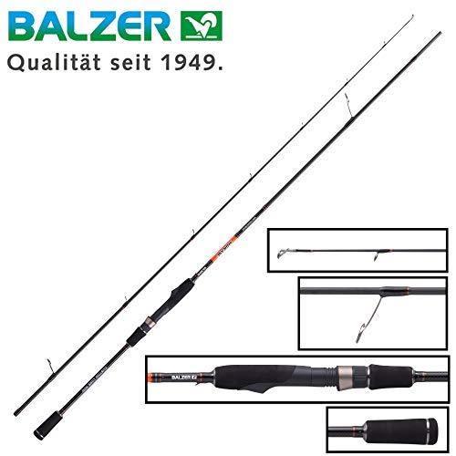 Balzer Shirasu Mini Crank & Shad 2,27m 6-21g Spinnrute, Angelrute für Wobbler & Gummifische, Barschrute zum Spinnfischen