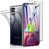 SHINEZONE Vetro Temperato per Samsung Galaxy M51 (2 Pezzi+Cover) Durezza [9H] HD e Trasparente Anti-graffio, Anti-Olio, Anti-Bolle Vetro Temperato in Pellicola Protettiva per Samsung Galaxy M51