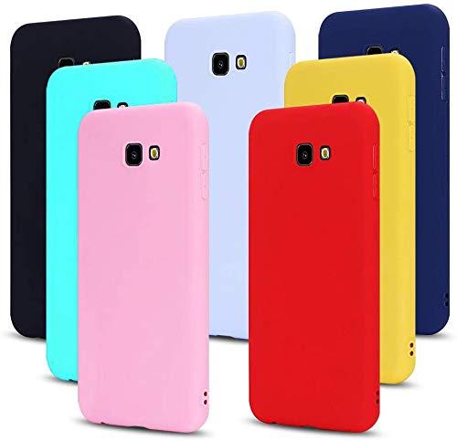 MoEvn 7X Cover per Samsung J4 Plus 2018 Custodia, Morbido TPU Silicone Protezione Case per Samsung Galaxy J4+ 2018 Smartphone Opaco Gomma Gel Flessibile Sottile Antiurto Cellulare Bumper (7 Colori)