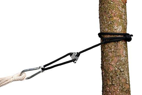 AMAZONAS Smartrope Black wasserfeste verstellbare Aufhängung für Hängematten und Hängesessel 320 cm bis 150 kg pro Seil schwarz