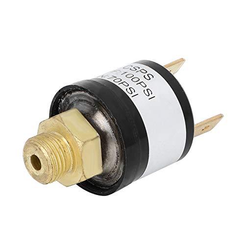 Interruptor de control de compresor de aire Suuonee, válvula de interruptor de control de presión de aire automático del automóvil 70-100PSI para bomba de compresor de aire, acero inoxidable