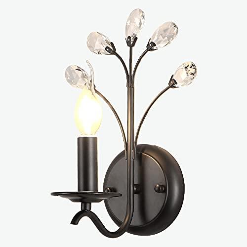 shisipq Lampada da parete in stile post-moderno, LED E14 * 1 + 110-240V Lampada per illuminazione...