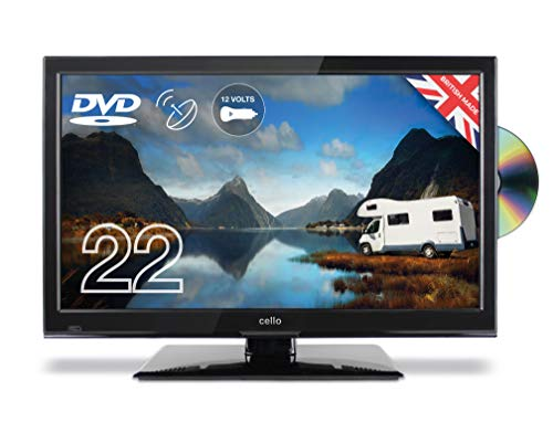 Cello C22230F-Traveller 22-Inch Full HD Traveller 12 V TV with DVD and Satellite Tuner Made in the UK Black
