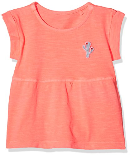Name It Nbfdenan SS Tunic Robe, Rose (Neon Coral), 74 Bébé Fille