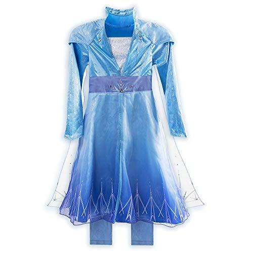 Disney Elsa Travel Costume for Girls  Frozen 2, Size 9/10 Blue