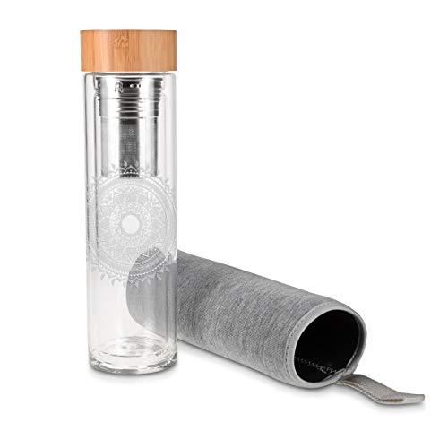 Teeflasche ToGo aus Glas - 7