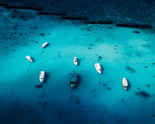 Kpoiuy DIY ÖL Malen Nach Zahlen Kit,Malerei Lacke Boote Yachten Ozean Zeichnung Mit Pinsel 16 * 20 Zoll Weihnachten Dekor Dekorationen Geschenke (Ohne Rahmen)