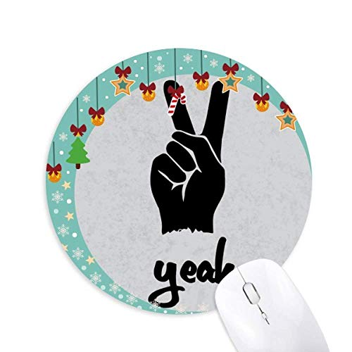 Scheren Silhouette Personalisierte Gesten Maus Pad Jingling Bell Round Rubber Mat