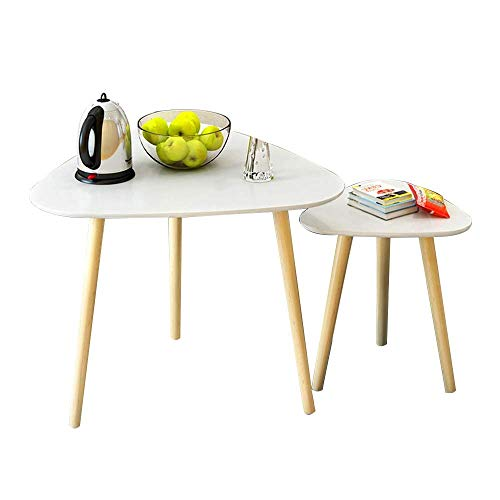Table Side Table, Bedroom Bedside Table Living Room Sofa Small Round Table Coffee Table Corner Table For Small Apartment White Set Of 2 For Living Room Bedroom (Color : B) Home