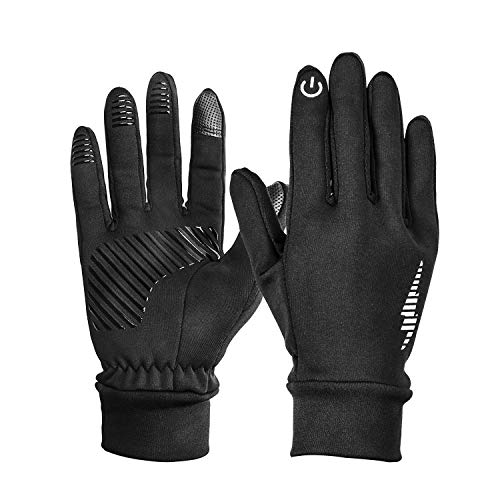 Hicool Touchscreen-Handschuhe, Touch Gloves Smartphone Handschuhe für Radfahren, Motorradfahren, Wandern und andere Outdoor-Aktivitäten (Schwarz, M)