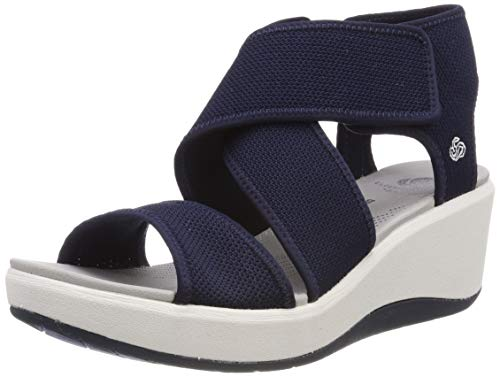 Clarks Step Cali Palm, Zapatillas Mujer, Azul (Navy-), 38 EU