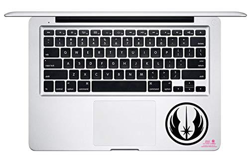 Artstickers. Pegatina para portatil o Macbook. Vinilo Orden Jedi Star Wars para touchpad. Adhesivo para Teclado de Apple MacBook Pro Air Mac Portátil. Color Negro. Regalo Spilart, Marca Registrada
