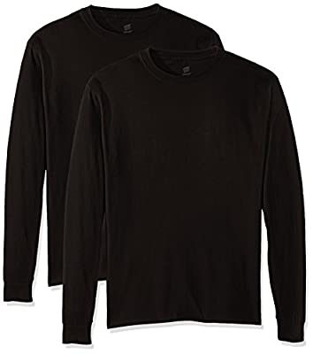 Hanes Men's Comfortsoft Long-Sleeve T-Shirt (Pack of 2), Black,X Large from Hanes Branded Printwear