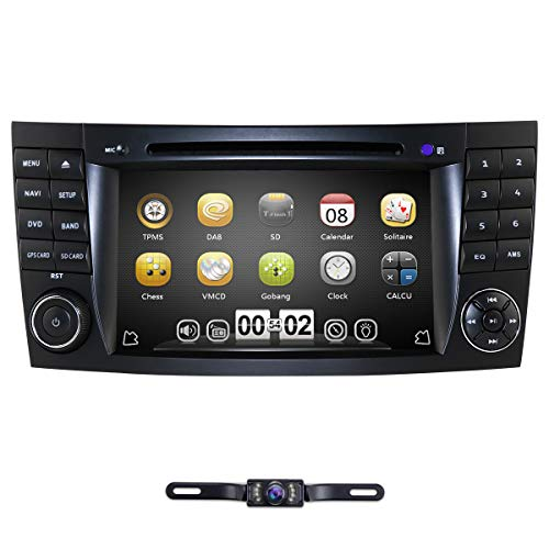 hizpo 7 Inch Car Stereo Radio DVD Player GPS Can-Bus Mirrorlink Bluetooth OBD2 Multi Touch Screen for Benz E-Class W211 CLS W219 CLK W209 G W463 CLS 350 CLS 500 CLS 55