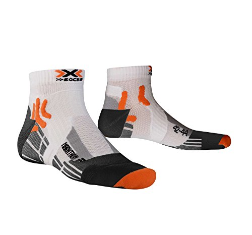 X-Socks Marathon Run - Calcetines unisex para deporte multicolor white/black Talla:42-44