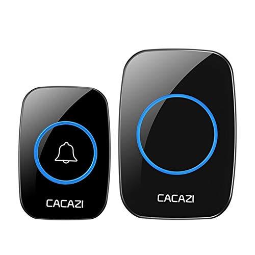 Yhui bel LED Smart deurbel waterdicht 300 m afstandsbediening mini draadloze deurbel 38 klokkenspel 20-85 dB deurring belspel bedrading Us elektrische