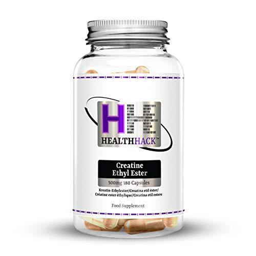 Health Hack Creatine Ethyl Ester, creatina etil-estere, 500 mg, 180 capsule