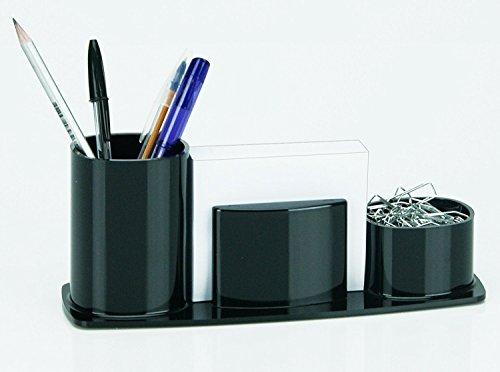 Acrimet Millennium Desktop Organizer Pencil Paper Clip Cup Caddy Holder (Plastic) (with Paper) (Black Color)