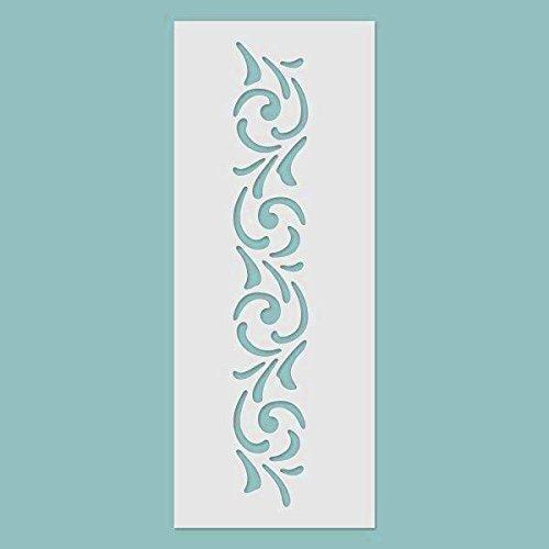 Zita's Creative 3D Schablone - Bordüre Nr. 01. - Wiederverwendbare Schablone für 3D Strukturen und Mixed Media