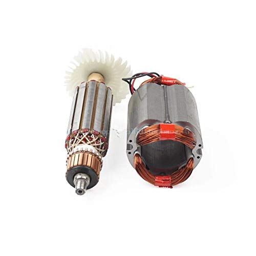 MQEIANG AC220-240V Motor del estator del Rotor de la Armadura para la Amoladora del ángulo Makita GA GA5030 GA4530 GA4030 GA5034 GA4534 GA4031 GA4030R GA4034 (Color : Rotor and stator)