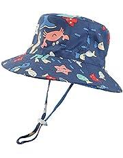 LACOFIA Cappello da Sole per Bambini Cappellino Estivo da 50 + UPF Protezione Solare Neonato Berretto da Spiaggia a Tesa Larga con Cinturino sottogola Regolabile