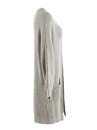 Simplee Women's Casual Open Front Long Sleeve Knit Cardigan Sweater Coat with Pockets, Apricot, One Size, 1 size