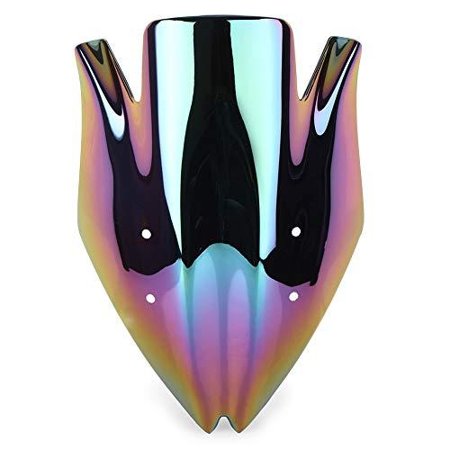 YLHAPPY Parabrisas a Prueba de Viento, Parabrisas Compatible con Kawasaki Z1000 2007 2009 Accesorios para Motocicletas de plástico ABS (Color : Deep Iridium)