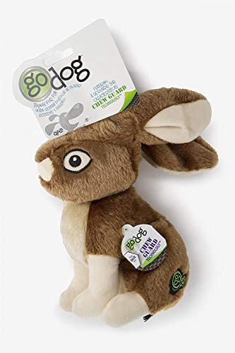 GoDog Wildlife Rabbit Large Toy with Chew Guard