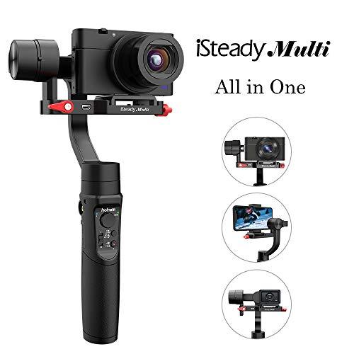 Hohem iSteady Multi 3 Achsen Handheld Gimbal Stabilizer für Sony RX100 Serie Kompatibel mit GoPro Hero 7/6/5 GoPro SJCAM YI CAM Telefon Android Smartphone, Action Kamera, Digital Kamera (Schwarz)