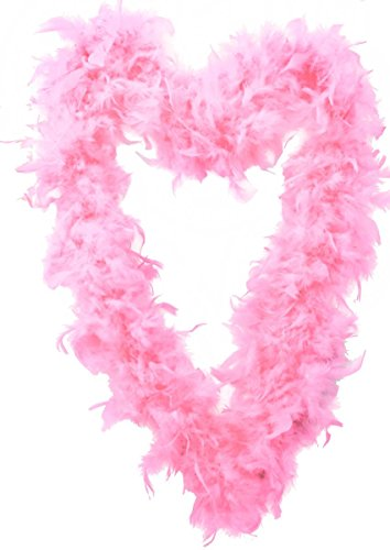 I LOVE FANCY DRESS LTD FEATHER GARLAND FOR CHRISTMAS TREE. 180CM / 5.9FT PINK XMAS GARLAND DECORATIONS. CHRISTMAS TREE DECORATIONS PINK. CHRISTMAS TREE TINSEL/PINK FLUFFY TINSEL. PACK OF 1