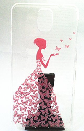 Samsung Galaxy Note 3 Case Fashion Hard Butterfly Dress Girl Design Princess Pattern Premium Pc Cover Samsung Galaxy Note 3 Pink Buy Online In Gibraltar Top Selling Stores Products In Gibraltar