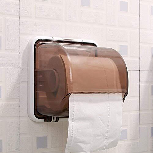WTT Toiletpapierhouder, rolhouder, zakdoekhouder, wandmontage, type houder, kunststof, voor badkamer, toilet, zelfklevend verdeler, waterdicht, multifunctioneel B 6 x 5 x 6 inch