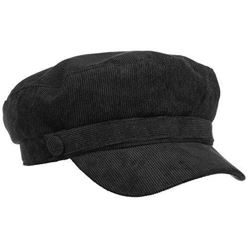 Lipodo Fijne Corduroy Schipperspet Heren - newsboy pet visor muts met klep voering voor Herfst/Winter