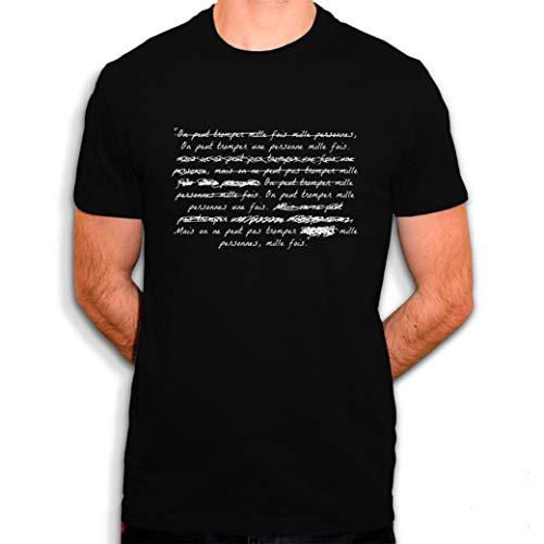 Sergent Tobogo La cité de la Peur - on Peur Tromper 1000 Fois - T-Shirt Homme (L)