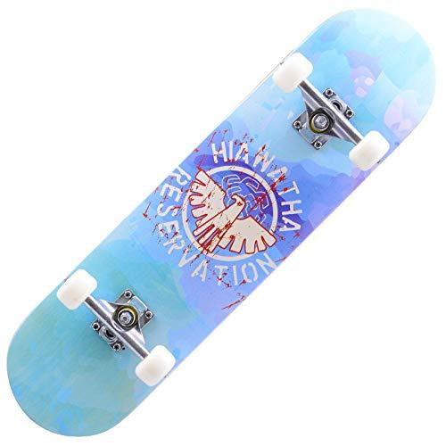 FWZZQ Maple Skateboard Outdoor Sport Skateboard mit Mehreren Designs-Fliegender Adler_80 * 20 * 10 cm