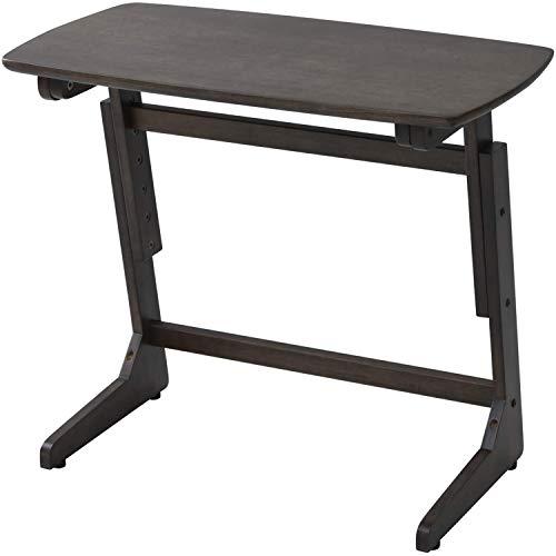 [山善] 昇降 テーブル 高さ3段階調整 高座椅子やソファに コンパクト アジャスター付 組立品 ウォルナットブラウン TZT-7542(WBR) 在宅勤務