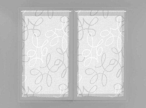 Soleil d'ocre Paire de brise bise 45x90 MANON, Polyester, Blanc, 45x90 cm