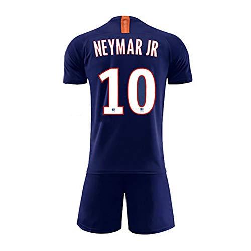 Erwachsene und Kinder Eltern-Kind-Fußballfan Kleidung Neymar jr 10 Mbappé 7 Cavani 9 Anzüge für Paris Heim Auswärts Swingman Jersey Sportswear Sport T-Shirt + Sports Shorts-Neymar JR-22