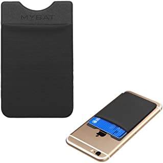 Wallet Purse Pocket Fits Universal KYOCERA Nokia Google etc. Black Adhesive Card Pouch Case Soft-Touch Spandex Sleeve Secure. Fits Most Phones, Tablets & Gadgets with Flat Surfaces. See Models Below: