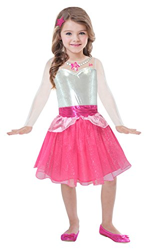 Amscan-BA105 Barbie Vestido Rock & Royals, color rosa, 3-5 anni (Ciao Srl BA105)