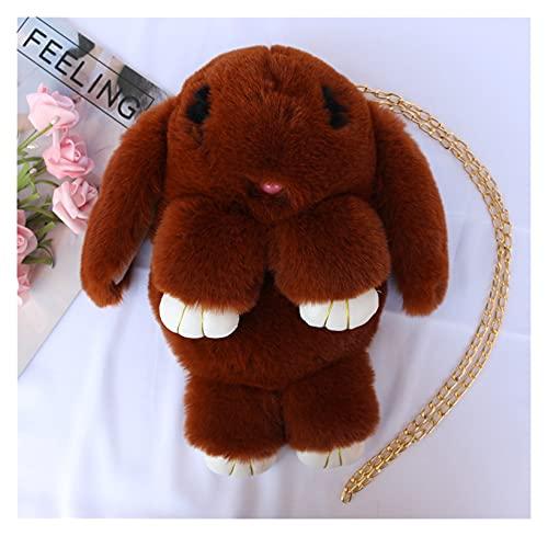 LINLIN Kawaii Pied Pompoms Bolsos Fluffy Rabbit Peluche Mochila Mochila Mochila Dibujos Animados Conejito Peluche Bolsos Moda Moda Mochilas Animales Sally (Color : 16)