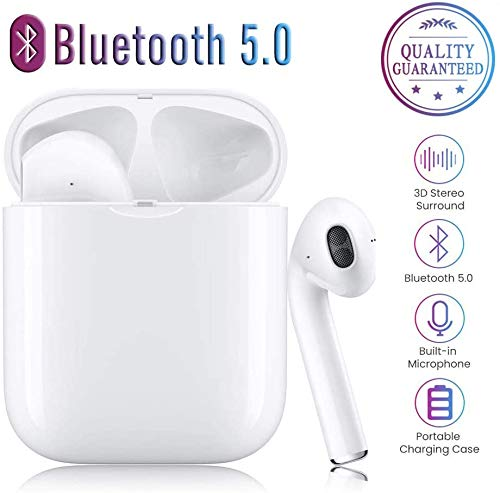 Auricolare Bluetooth Wireless, Mini Cuffie Sportive Impermeabili Wireless Cuffie Wireless con Custodia di Ricarica per iPhone X / 8/7/6 / 6s Plus Huaw