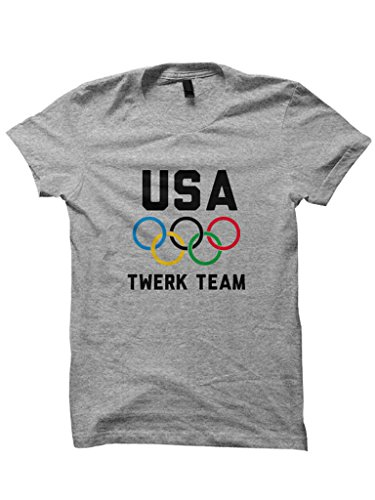 Celebrity Cotton USA Twerk Team T-shirt Ladies Tops Tees Funny Shirts Cute Gifts Unisex Fit