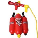 TE-Trend Feuerwehr Ausrüstung Feuerwehrschlauch Feuerlöscher Wasserspritze Wassertank Kinder...