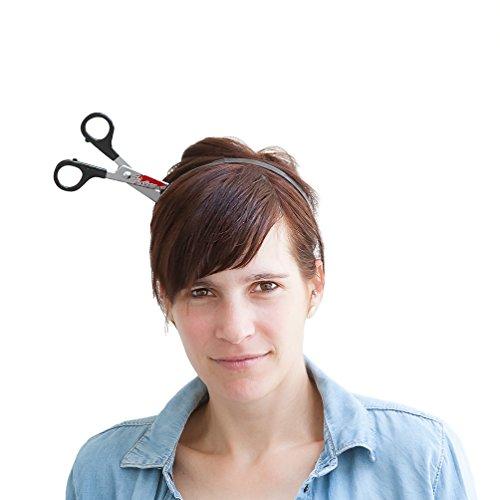 Oblique-Unique® Schere im Kopf Haarreifen - Halloween Prank Grusel Horror