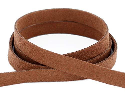AURORIS - 5m weiches flaches Band aus Wildlederimitat 10x1,5mm - Farbe wählbar - Variante: braun