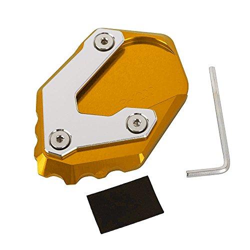 Accesorios de Motos Placa Ampliadora de pie de Apoyo de Aluminio Almohadilla...