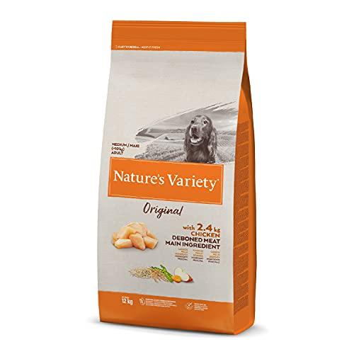 Nature's Variety Original - Pienso para perros adultos con pollo deshuesado, 12 kg ⭐