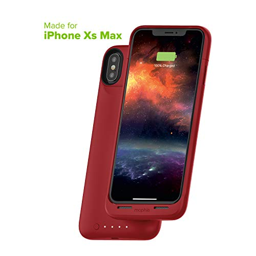 mophie Juice Pack Air - Mfi Certified - Wireless Charging - Protective Battery Pack Case for Apple iPhone Xs Max - Red
