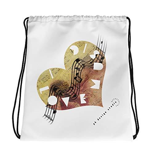 pb design studio Music Love - Drawstring bag
